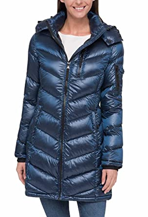 b6257413f5a2b Amazon.com: Andrew Marc Ladies' Long Down Jacket: Clothing