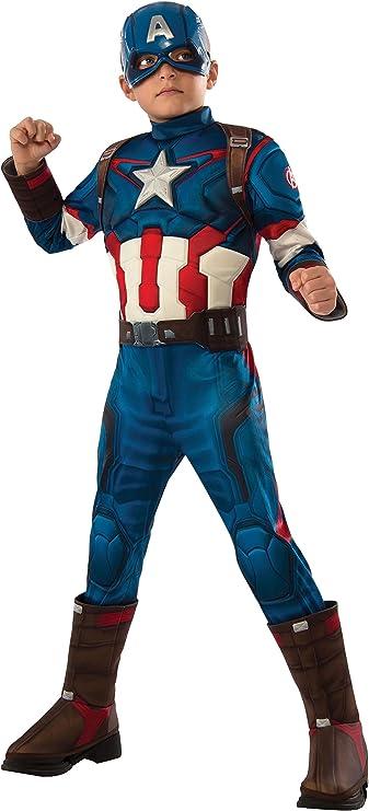 Kids Boys Captain America Marvel Avengers Halloween Costume Large 8-10 Years
