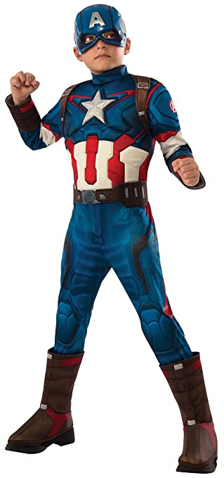Rubies Costume Avengers 2 Age of Ultron Childs Deluxe Captain America Costume, Large
