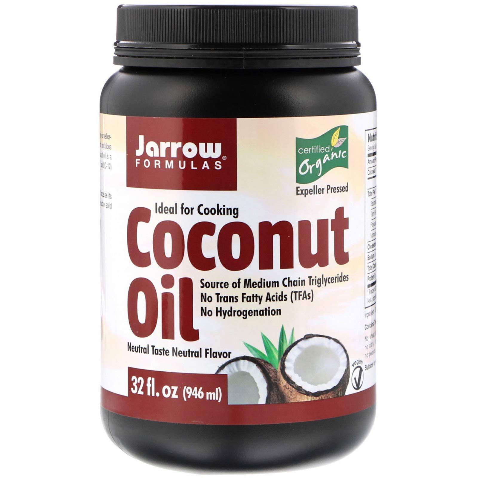 Jarrow Formulas, Organic Coconut Oil, Expeller Pressed, 32 fl oz (946 ml)