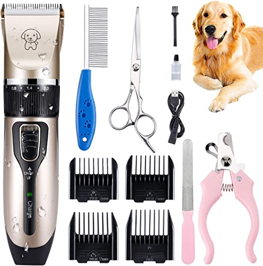 Dog Clippers Professional Dog Shaver Clippers Trimmers Clippers Quiet Pet Clippers Dog Grooming Kit Low Noise Electric Dog Shaver Clippers