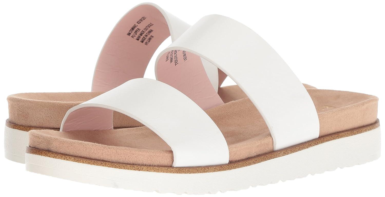 kensie Women's Dominic Slide Sandal B0781YYN22 8.5 B(M) US|White