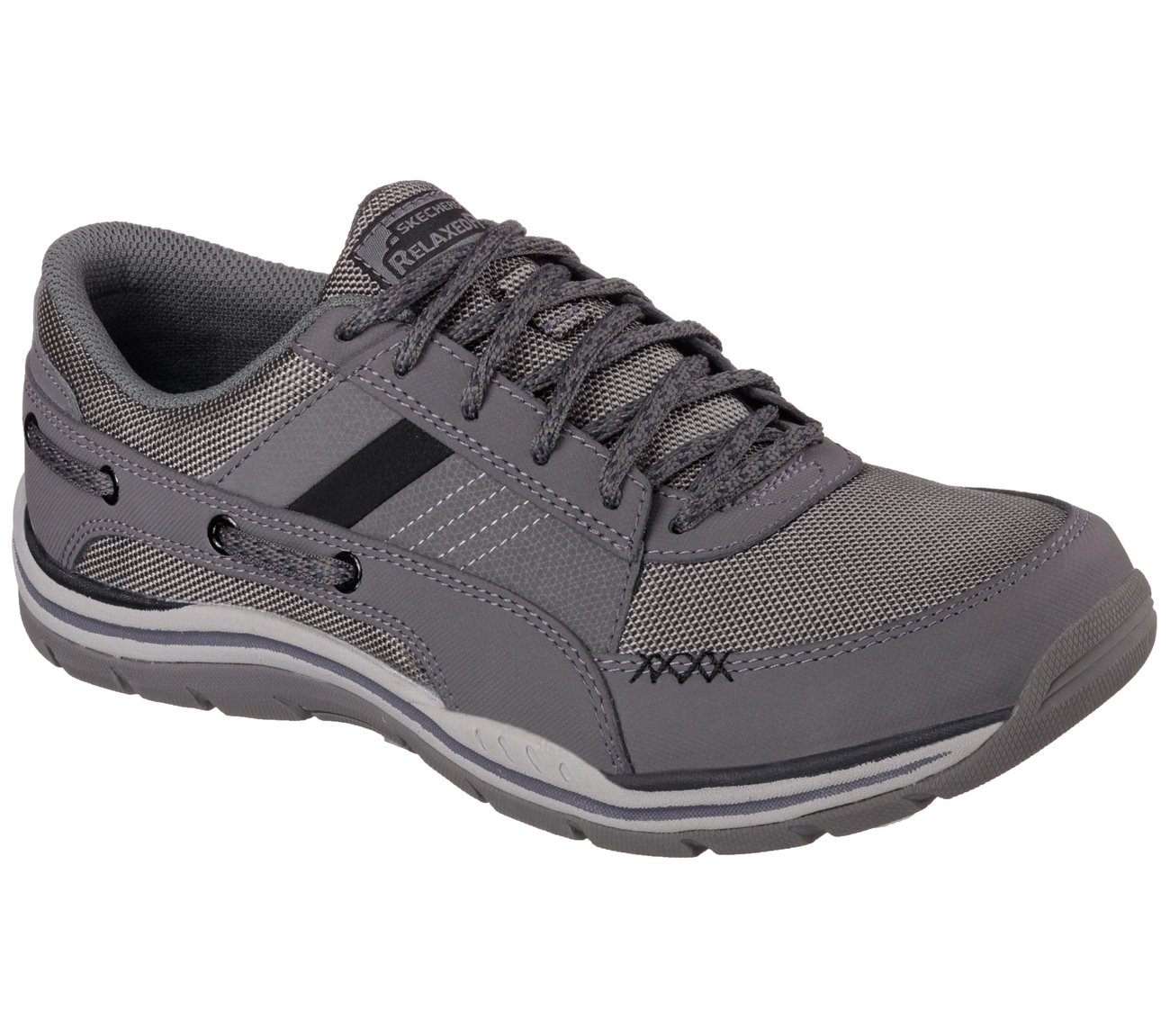Skechers Men's Relaxed Fit Expected Bolivar Charcoal US 7.5 M SKECHERS USA Inc