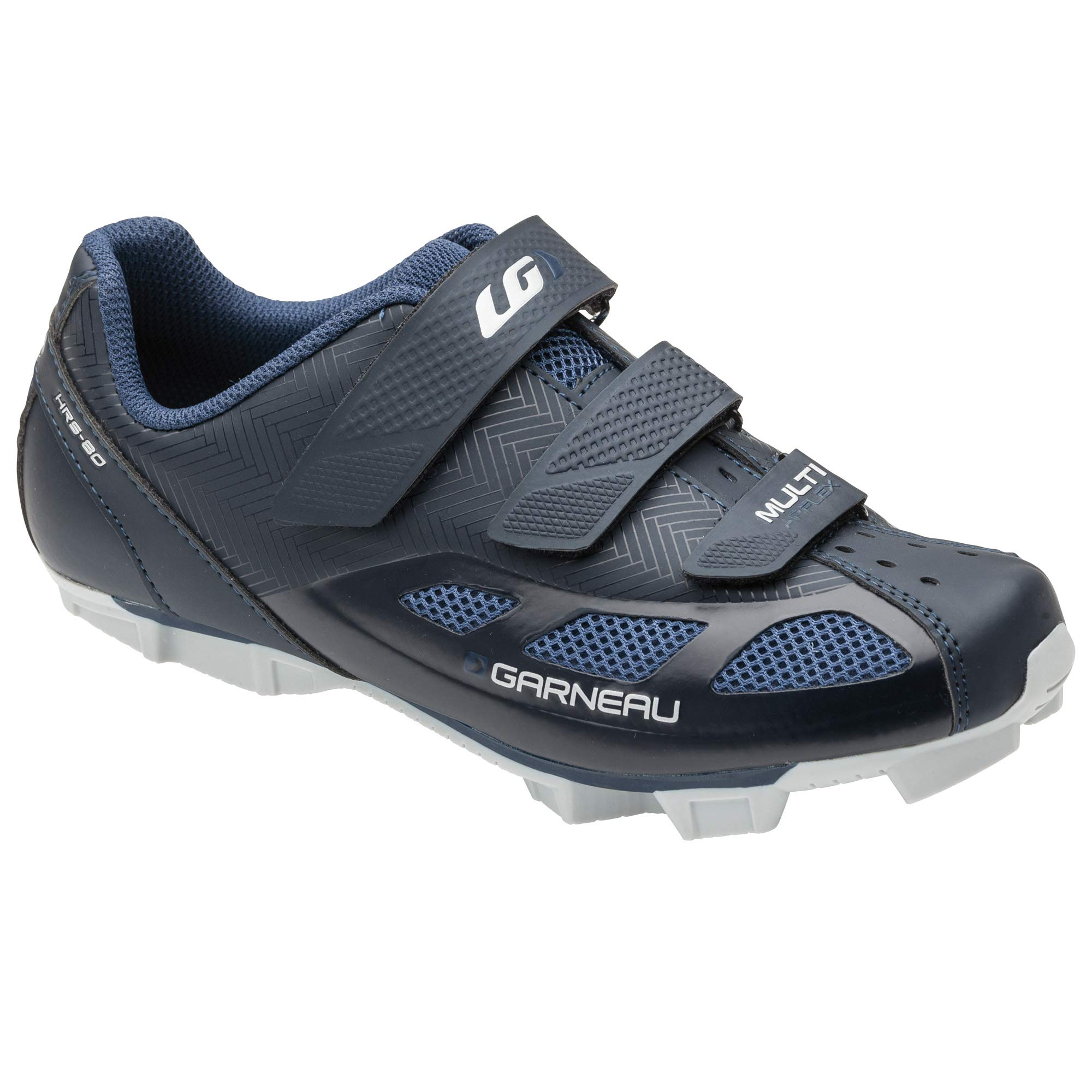 Louis Garneau Women's Multi Air Flex Bike Shoes for Indoor Cycling, Commuting and MTB, SPD Cleats Compatible with MTB Pedals, Mat Black Navy, US (10), EU (41) by Louis Garneau