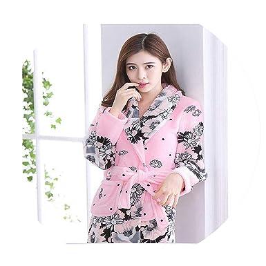 62345cd20ef2 Comfortable Ladies and Men Long Bathrobe Women Flower Flannel Kimono Bath  Robe Bridal