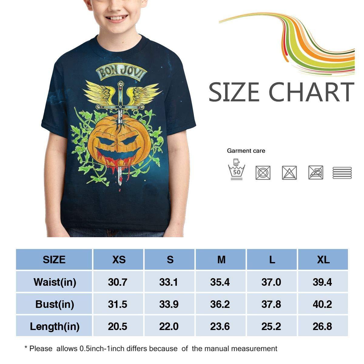 Lizhiguozhuanmai Boys,Girls,Youth Bon Jovi T Shirts