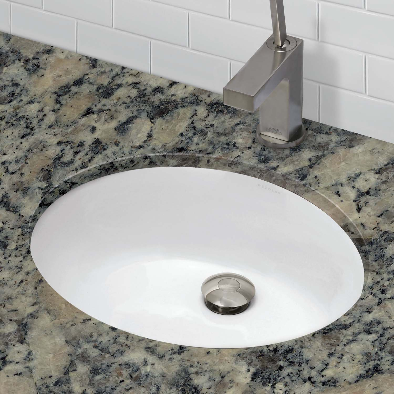 DECOLAV 1401-CWH Carlyn️ Classically Redefined Oval Vitreous China Undermount Lavatory Sink with Overflow, White by Decolav (Image #2)