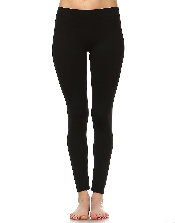 e5cbdcb4934 White Mark Women s Premium Full Length Leggings - Solid Colors -Regular   Plus  Size at Amazon Women s Clothing store