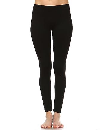 5b6287004ca White Mark Women s Premium Full Length Leggings - Solid Colors ...