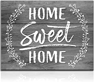 Bigtime Signs Home Sweet Home Sign - 11.75 inch x 9 inch Rigid PVC Signs Decor - Printed Rustic Wood Look - Predrilled Hole for Easy Hanging - Family Decoration for Home, Door, Mantle, Porch