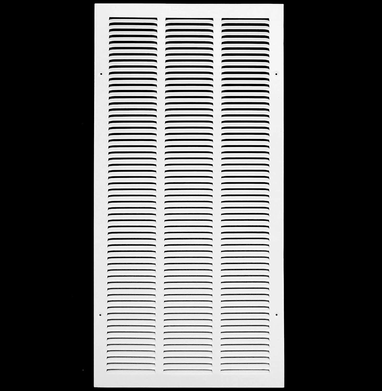"14""w X 36""h Steel Return Air Grilles - Sidewall and Ceiling - HVAC Duct Cover - White [Outer Dimensions: 15.75""w X 37.75""h]"