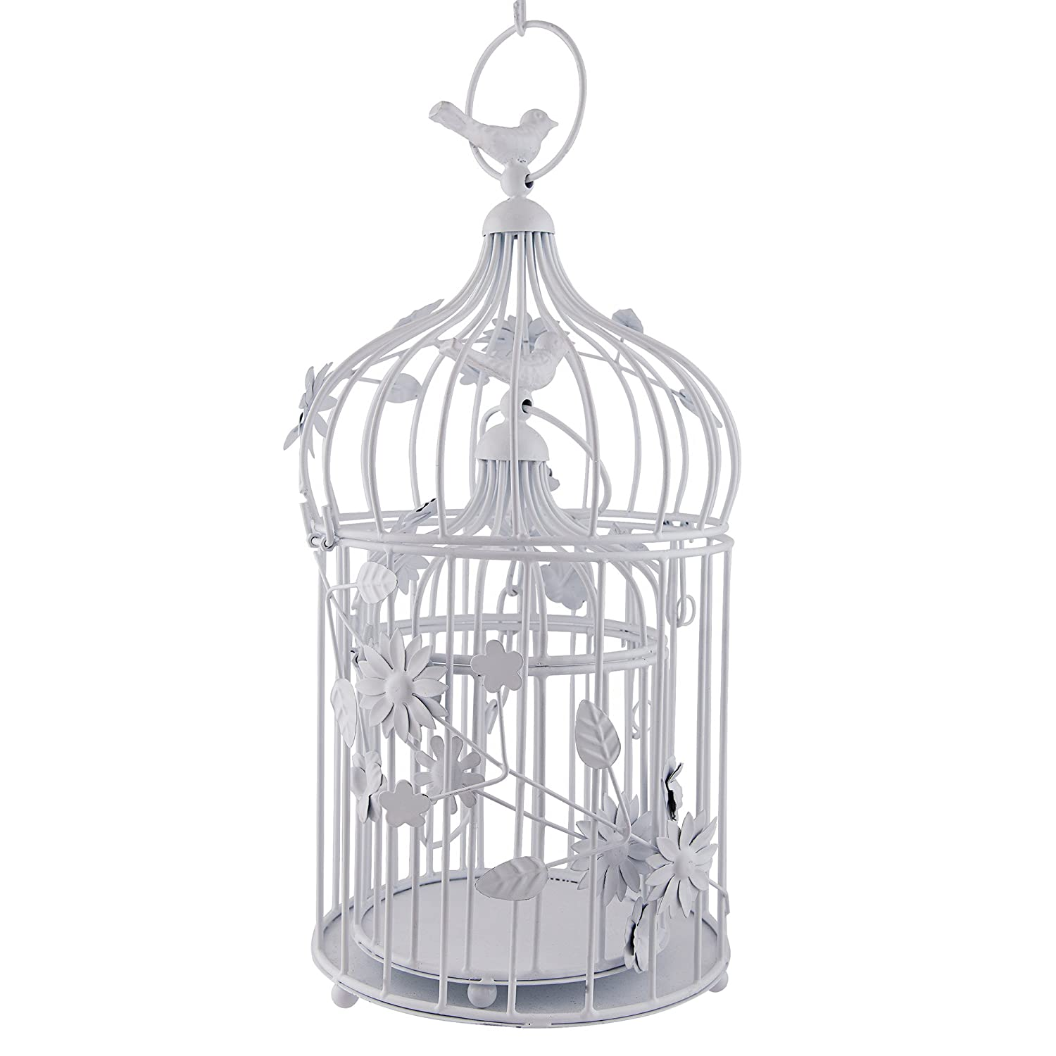 Buy Homesake Bird Cage With Floral Vine (Set Of 2)