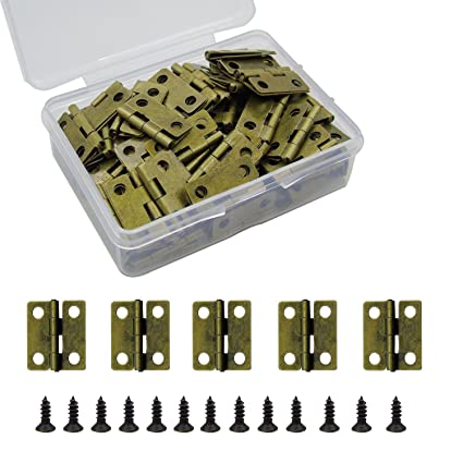 100pcs Small Box Hinges Granmp Jewelry Box Hinges Retro Butt Hinges