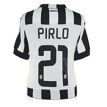 Andrea Pirlo Firmado Juventus 2014-15 camiseta de fútbol: Amazon.es: Deportes y aire libre