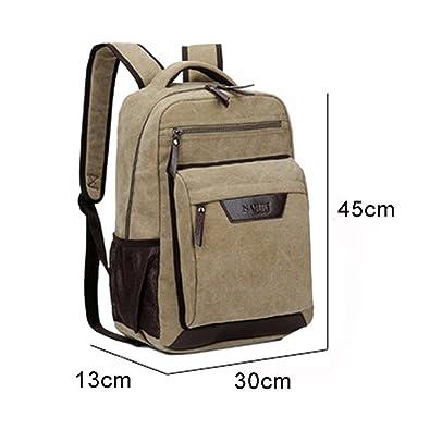 de3137e8eb49 Outreo Men s Backpack Vintage Daypack Casual School Sports Travel Over  Shoulder Bag Large Canvas Back Pack