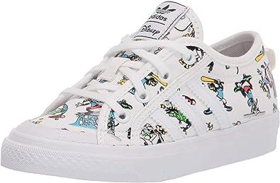 Contradicción aeropuerto traducir  Zapatillas deportivas adidas Originals Nizza X Disney Sport Goofy para niños,  blanco (Blanco/Escarlata/Negro), 37 EU: Amazon.es: Zapatos y complementos