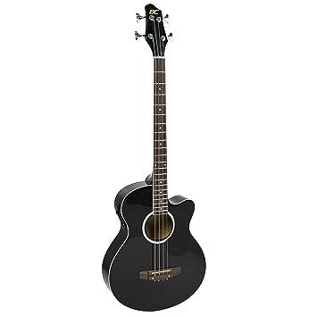 Bajo eléctrico acústico de madera maciza con ecualizador (negro): Amazon.es: Instrumentos musicales
