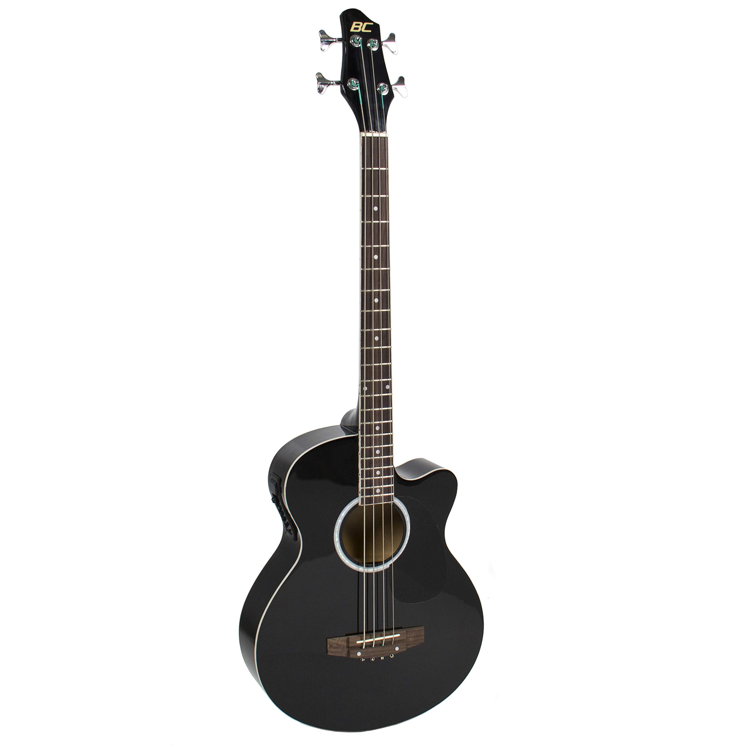 Best Choice Products 22-Fret Full Size Acoustic Electric Bass Guitar w/ 4-Band Equalizer, Adjustable Truss Rod, Solid Construction - Black