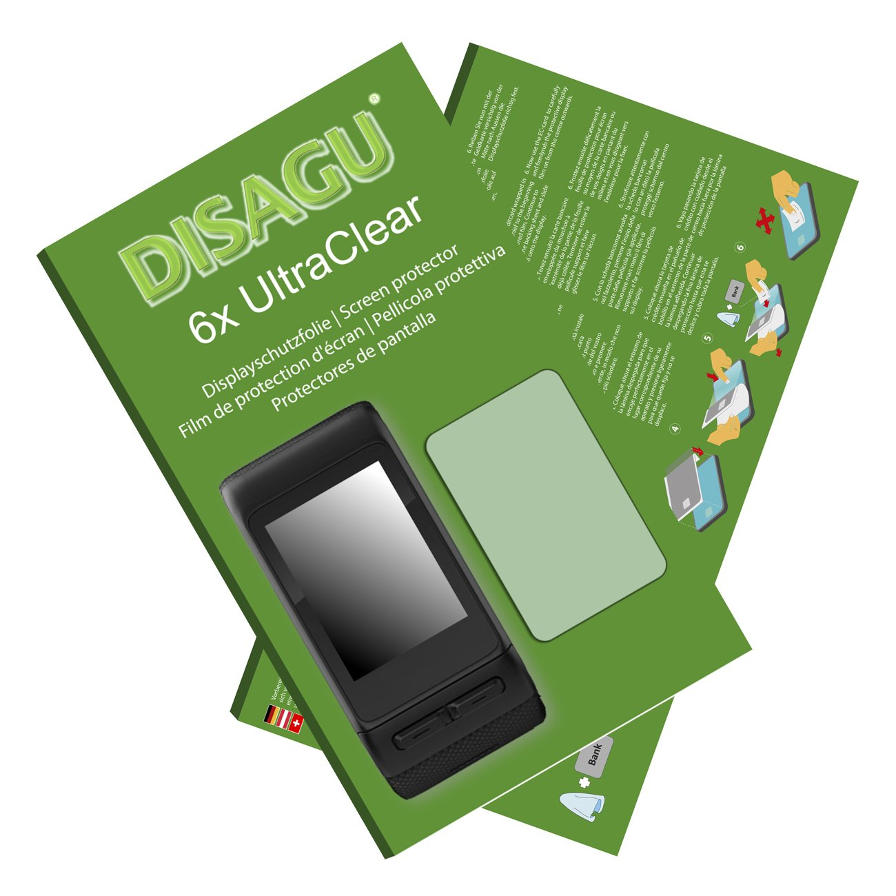 6x Ultra Clear Screen Protector for Garmin vivoactive HR DISAGU #uk6583