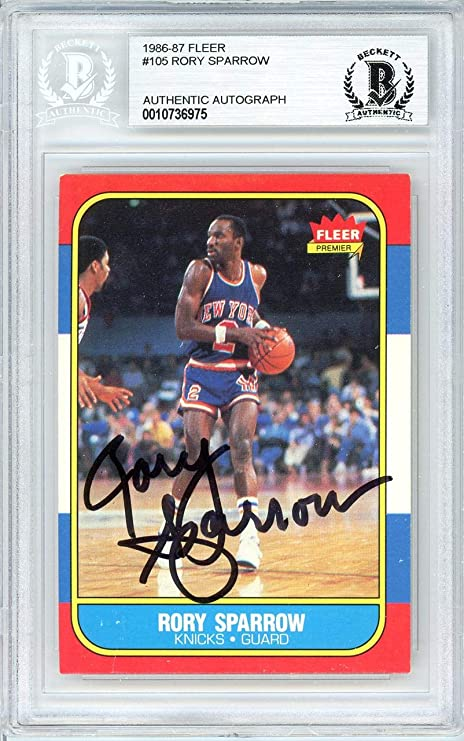 49e9eac5d Rory Sparrow Autographed 1986 Fleer Card  105 New York Knicks Beckett BAS   10736975 -