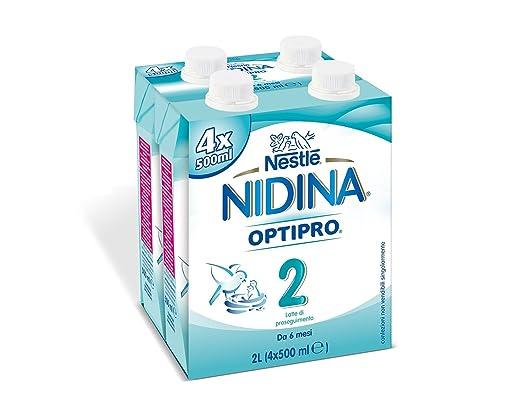2 opinioni per NESTLÉ NIDINA 2 da 6 mesi Latte di Proseguimento Liquido- 4 brick da 500 ml