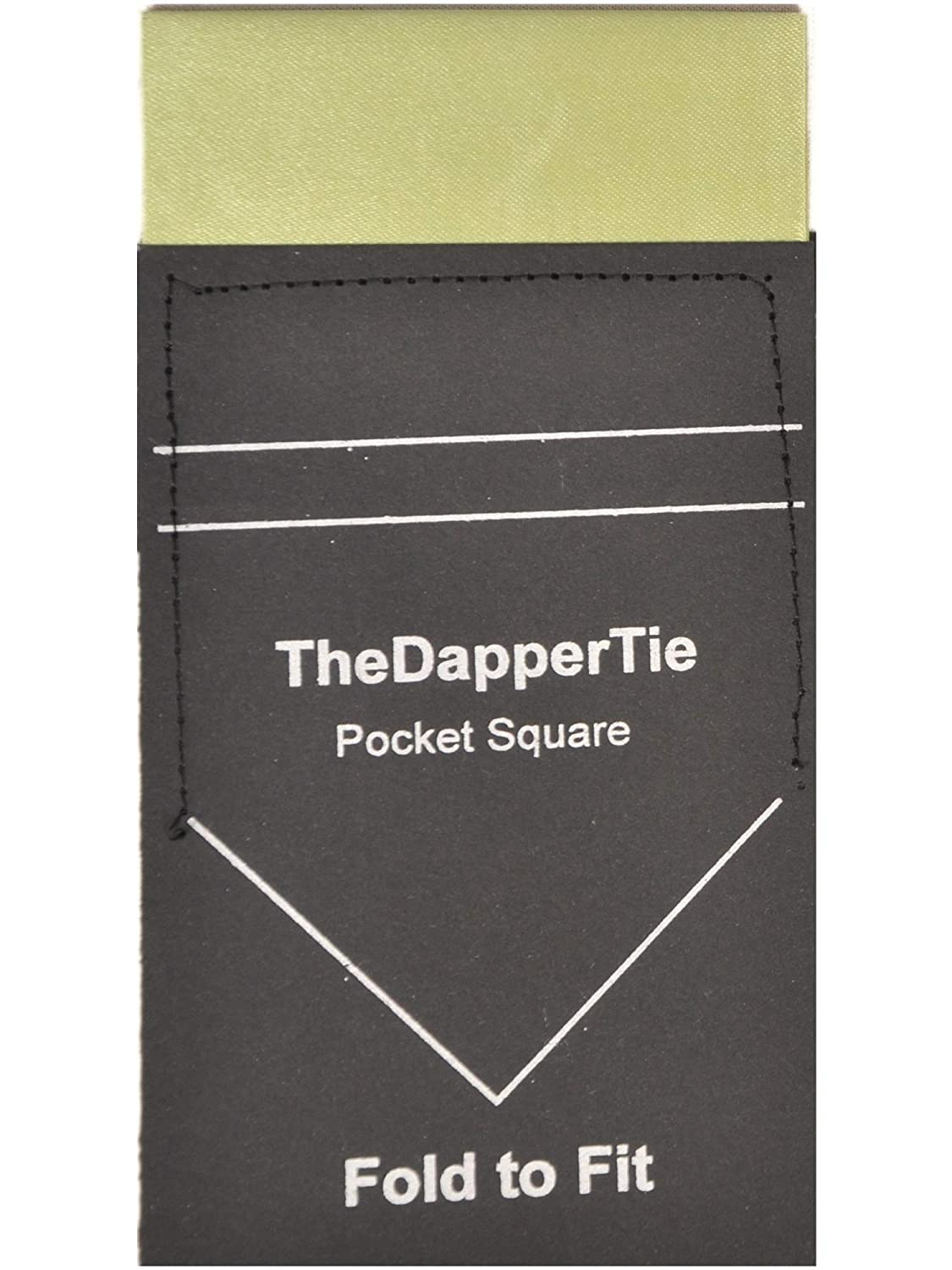 Mens Solid Flat Pre Folded Pocket Square on Card FlatHanky-White TheDapperTie