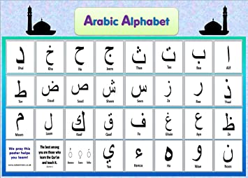 Arabic Alphabet Letters Quran Instruction Poster Print A4 ...