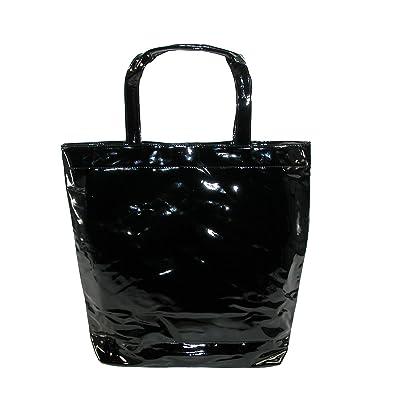 Amazon.com  CTM Women s Patent Tote Bag e7a82fc59bc0b