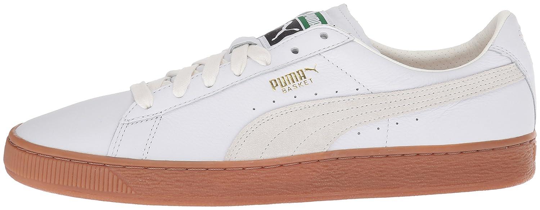 PUMA Men's Basket 7.5 Classic Gum Deluxe Turnschuhe, Weiß, 7.5 Basket M US a1c601