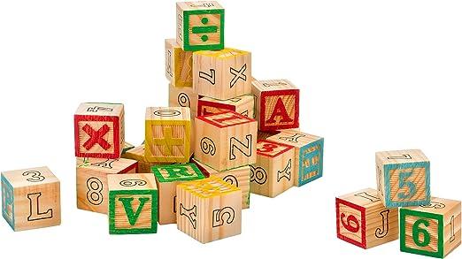 Legnoland 37843 3 x 3 cm Cube en Bois LettresChiffresSymboles (30 pièces)