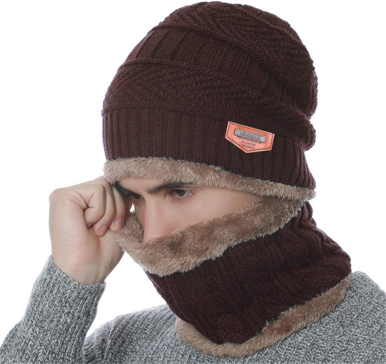 BDSMAGE Winterm/ütze Strickm/ütze Warme M/ütze Kreis Schal Set und Warm Strick Handschuhe mit Fleecefutter f/ür Damen und Herren