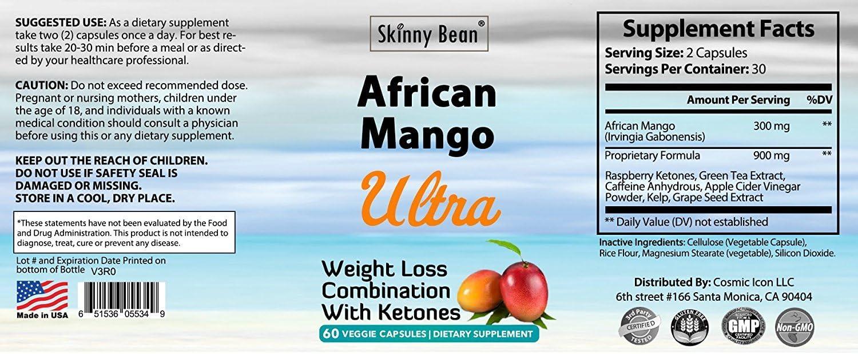 Amazon Com Skinny Bean African Mango Stack Health Personal Care