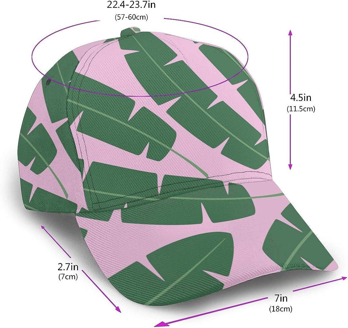 Green Leaves Palm Tree Boy Classic Hip Hop Baseball Cap 100/% Cotton Unisex Soft Adjustable Size