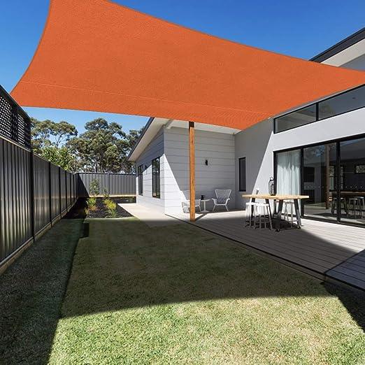 Ankuka Toldo rectangular 3 x 4 m, color naranja, lona impermeable UV protección para jardín, terraza, exterior, patio, piscina, con cuerda libre: Amazon.es: Jardín