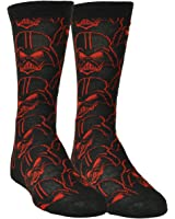 Star Wars Darth Vader Black Red Long Socks Size 6-12 Black Movie Character