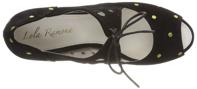 Lola Ramona Pumps Damen AVA Peeptoe Pumps Ramona Schwarz (schwarz 8) f244e5