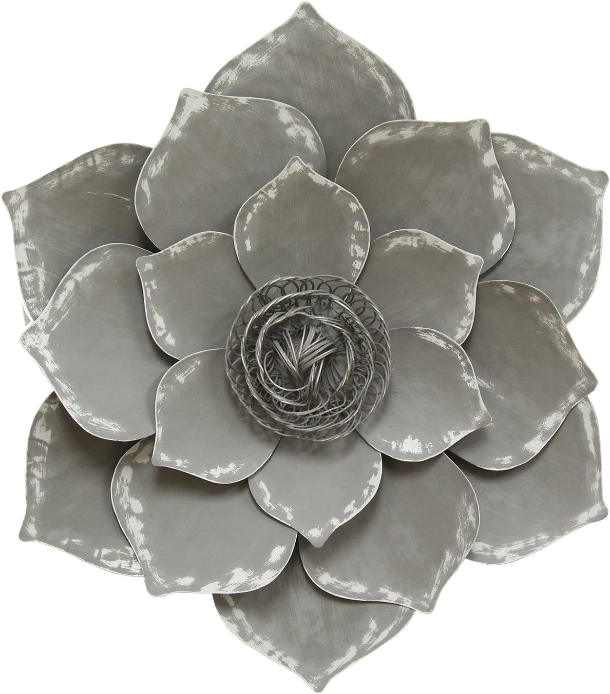 Amazon Com Stratton Home Decor S07656 Lotus Wall Decor 19 69 W X 2 56 D X 19 69 H Grey Home Kitchen