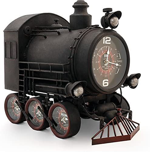 The Conquest – Handmade Train Clock From The Barrel Shack