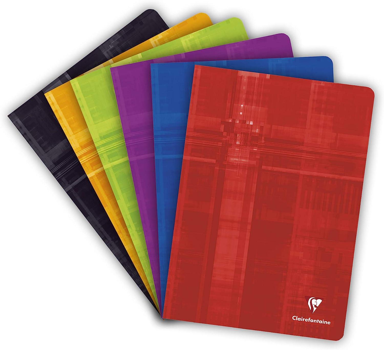 Colori assortiti Clairefontaine 63161C 96 pagine Confezione da 10 pezzi Confezione da 1 quaderni Seyes