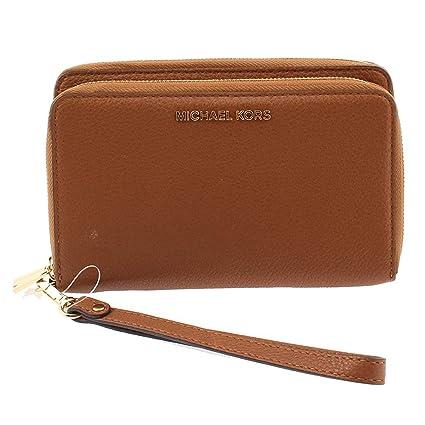6a3d079e73ef41 Amazon.com : MICHAEL Michael Kors Womens Adele Leather Clutch Wristlet  Wallet Brown O/S : Electronics