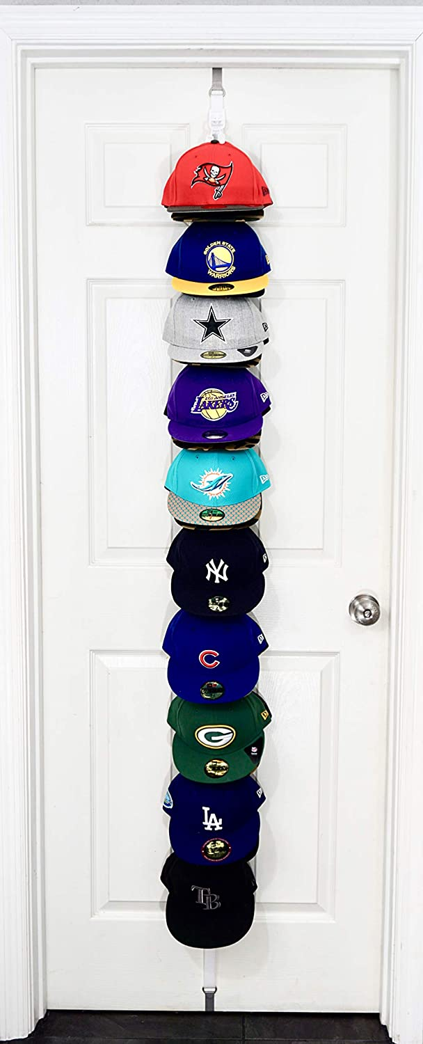 The Clip Hanger Hat Rack Organizer Up to 20 Hats Any Size, Style, or Shape! Door, Wall, or Closet Organize Anything