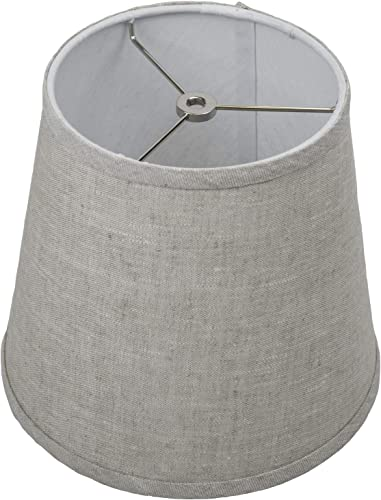 FenchelShades.com 7 Top Diameter x 10 Bottom Diameter 9 Slant Height Lampshade USA Made Designer Oatmeal