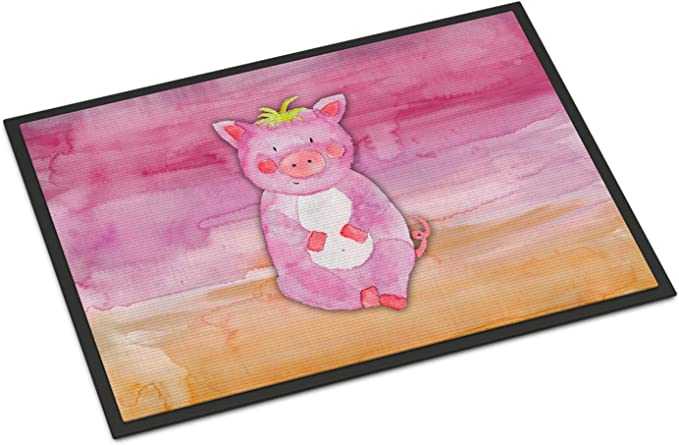 Carolines Treasures Bear Watercolor Doormat 18 x 27 Multicolor