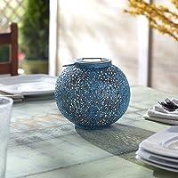 Smart Solar Riad Solar Outdoor Distressed Teal Decorative Lantern