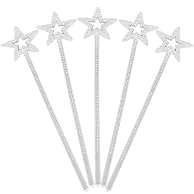(5 Pack) Sequin Star Wand Handhelds Party Favors