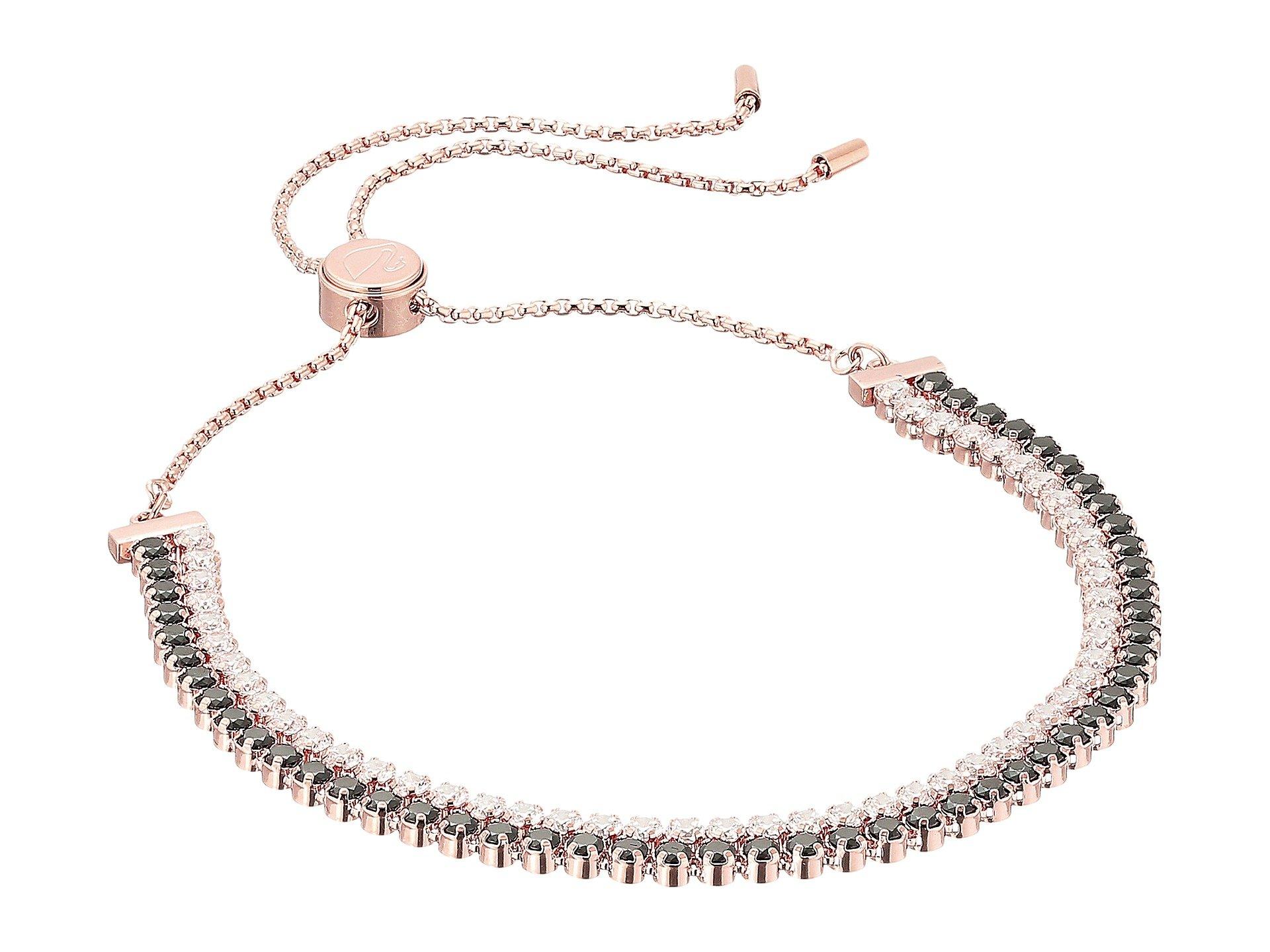 Swarovski Womens Subtle Bracelet Multi/Rose Gold/Black/Clear Crystal One Size