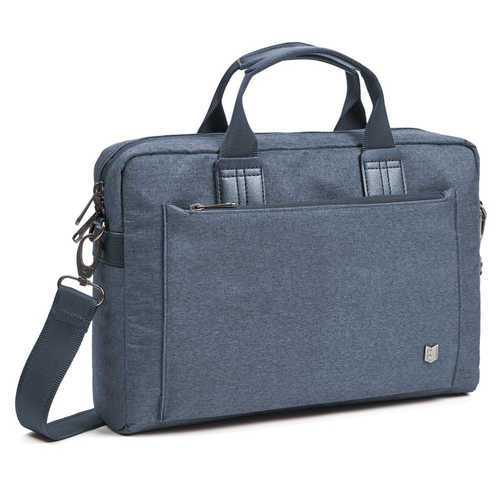 Evecase City 15-15.6 inch Laptop Briefcase Messenger Bag, Professional Water Resistant Business Laptop Shoulder Bag for Apple ASUS Acer Samsung Dell Lenovo Chromebook Ultrabook and More - Coal Gray 885157980944