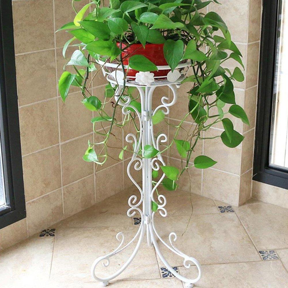 Portavasi 1-Pack Iron Art Flowerpot Stand, 1 Vaso e 77cmH Titolare fioriera, Design Elegante Scaffale, Giardino Esterno da Giardino Patio pianta Bonsai Decorativo Fiore Display Rack