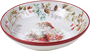 Certified International Christmas Story Serving Bowl, Multicolored