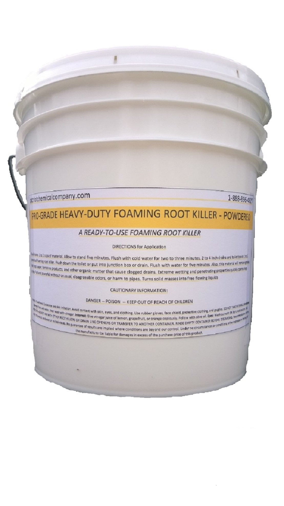 Patriot Chemical Sales 20 Pounds Foaming Root Killer Powder Industrial Strength